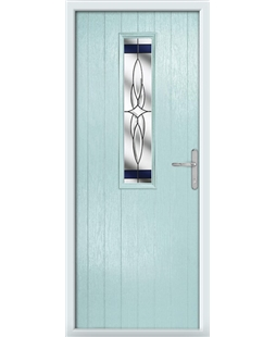 The Sheffield Composite Door in Blue (Duck Egg) with Blue Crystal Harmony