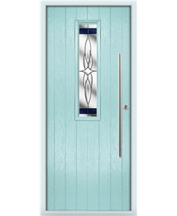 The York Composite Door in Blue (Duck Egg) with Blue Crystal Harmony