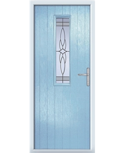 The Sheffield Composite Door in Blue (Duck Egg) with Crystal Harmony Frost