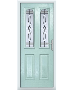 The Aberdeen Composite Door in Blue (Duck Egg) with Crystal Harmony Frost