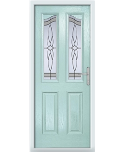 The Birmingham Composite Door in Blue (Duck Egg) with Crystal Harmony Frost