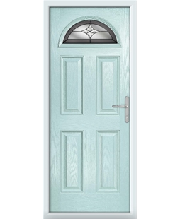 The Derby Composite Door in Blue (Duck Egg) with Crystal Harmony Frost