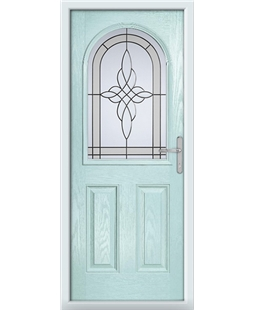 The Edinburgh Composite Door in Blue (Duck Egg) with Crystal Harmony Frost