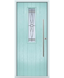 The York Composite Door in Blue (Duck Egg) with Crystal Harmony Frost