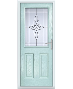 The Farnborough Composite Door in Blue (Duck Egg) with Crystal Harmony Frost