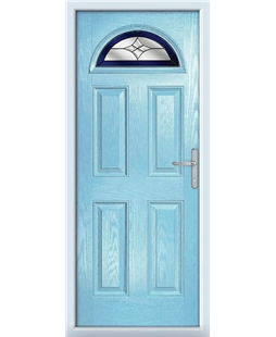 The Derby Composite Door in Blue (Duck Egg) with Blue Crystal Harmony