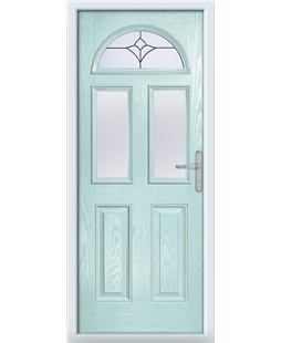 The Glasgow Composite Door in Blue (Duck Egg) with Crystal Tulip Arch