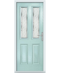The Cardiff Composite Door in Blue (Duck Egg) with Diamond Cut