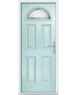 The Derby Composite Door in Blue (Duck Egg) with Diamond Cut