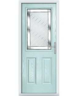 The Farnborough Composite Door in Blue (Duck Egg) with Diamond Cut