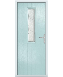The Sheffield Composite Door in Blue (Duck Egg) with Diamond Cut