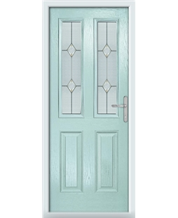 The Cardiff Composite Door in Blue (Duck Egg) with Classic Glazing