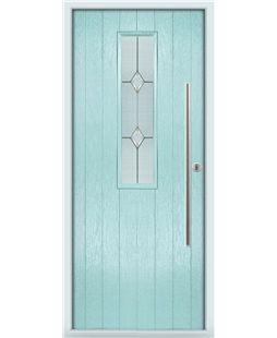 The York Composite Door in Blue (Duck Egg) with Classic Glazing