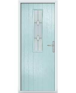 The Sheffield Composite Door in Blue (Duck Egg) with Classic Glazing