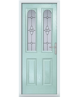 The Aberdeen Composite Door in Blue (Duck Egg) with Finesse Glazing
