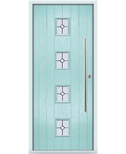The Leicester Composite Door in Blue (Duck Egg) with Finesse Glazing