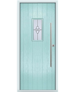 The Zetland Composite Door in Blue (Duck Egg) with Finesse Glazing