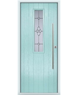 The York Composite Door in Blue (Duck Egg) with Finesse Glazing