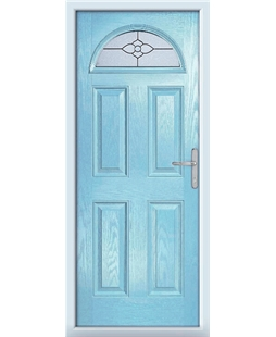 The Derby Composite Door in Blue (Duck Egg) with Finesse Glazing