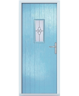 The Taunton Composite Door in Blue (Duck Egg) with Finesse Glazing