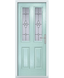 The Cardiff Composite Door in Blue (Duck Egg) with Finesse Glazing