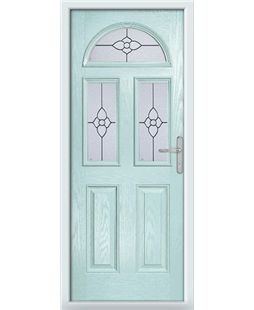 The Glasgow Composite Door in Blue (Duck Egg) with Finesse Glazing
