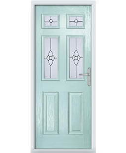 The Oxford Composite Door in Blue (Duck Egg) with Finesse Glazing