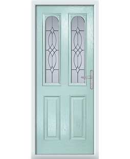 The Aberdeen Composite Door in Blue (Duck Egg) with Flair Glazing