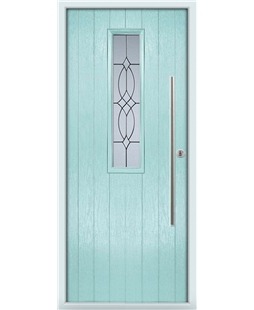 The York Composite Door in Blue (Duck Egg) with Flair Glazing