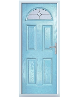 The Derby Composite Door in Blue (Duck Egg) with Flair Glazing