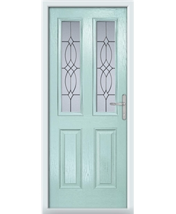 The Cardiff Composite Door in Blue (Duck Egg) with Flair Glazing
