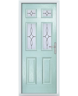 The Oxford Composite Door in Blue (Duck Egg) with Flair Glazing