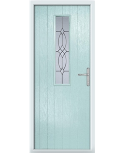 The Sheffield Composite Door in Blue (Duck Egg) with Flair Glazing
