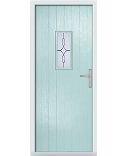 The Taunton Composite Door in Blue (Duck Egg) with Flair Glazing