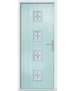The Uttoxeter Composite Door in Blue (Duck Egg) with Flair Glazing