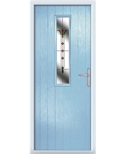 The Sheffield Composite Door in Blue (Duck Egg) with Fleur