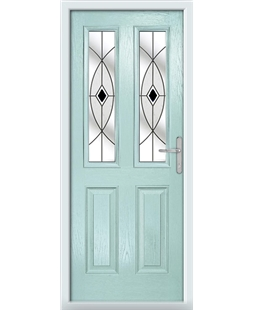 The Cardiff Composite Door in Blue (Duck Egg) with Black Fusion Ellipse