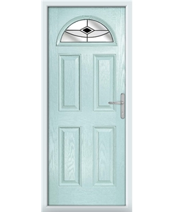 The Derby Composite Door in Blue (Duck Egg) with Black Fusion Ellipse