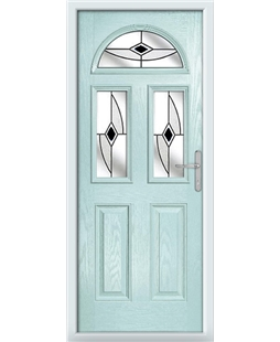 The Glasgow Composite Door in Blue (Duck Egg) with Black Fusion Ellipse