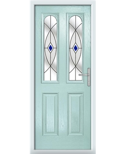 The Aberdeen Composite Door in Blue (Duck Egg) with Blue Fusion Ellipse