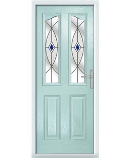 The Birmingham Composite Door in Blue (Duck Egg) with Blue Fusion Ellipse