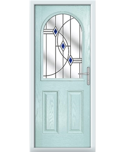 The Edinburgh Composite Door in Blue (Duck Egg) with Blue Fusion Ellipse