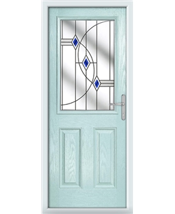 The Farnborough Composite Door in Blue (Duck Egg) with Blue Fusion Ellipse