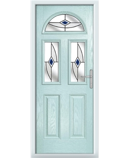 The Glasgow Composite Door in Blue (Duck Egg) with Blue Fusion Ellipse