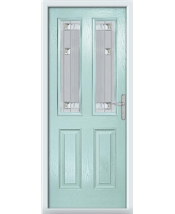 The Cardiff Composite Door in Blue (Duck Egg) with Milan Glazing