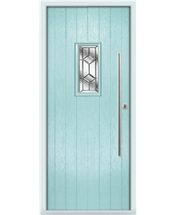 The Zetland Composite Door in Blue (Duck Egg) with Simplicity