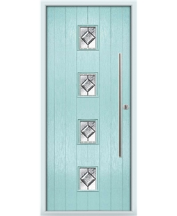 The Leicester Composite Door in Blue (Duck Egg) with Simplicity
