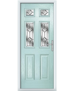 The Oxford Composite Door in Blue (Duck Egg) with Simplicity