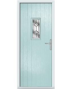 The Taunton Composite Door in Blue (Duck Egg) with Simplicity