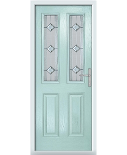 The Cardiff Composite Door in Blue (Duck Egg) with Simplicity